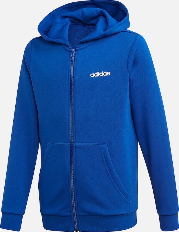 ADIDAS PERFORMANCE Sportsweatjacke in blau weiß   ABOUT YOU