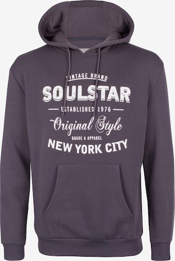SOULSTAR Sweatshirt in de kleur Basaltgrijs / Wit, Productweergave