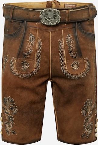 STOCKERPOINT Rahvuslikud püksid 'Thomas2', värv pruun