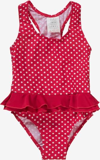 PLAYSHOES Badeanzug 'PUNKTE' in rot / weiß, Produktansicht