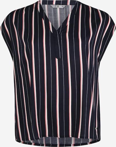 Z-One Bluse 'Marlis Z1' in marine / pink / weiß, Produktansicht