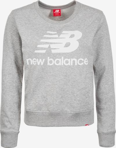 new balance Sweatshirt in graumeliert / weiß, Produktansicht