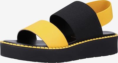 Rapisardi Sandale in gelb / schwarz, Produktansicht