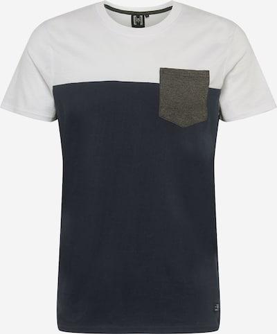 Hailys Men T-Shirt 'Kyle' in navy / graumeliert / weiß: Frontalansicht