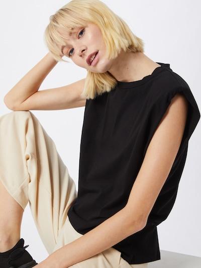 OBJECT Top 'OBJJEANETTE' in schwarz, Modelansicht