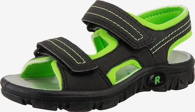 myToys-COLLECTION Sandalen in neongrün / schwarz, Produktansicht