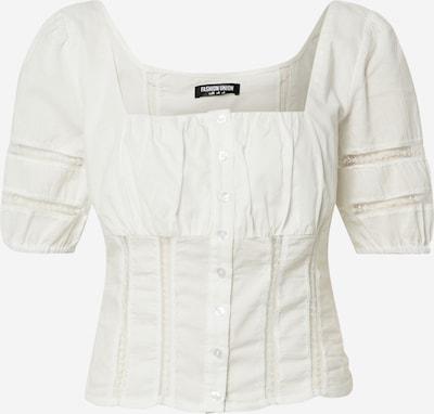 Fashion Union Chemisier 'JOJI' en blanc, Vue avec produit