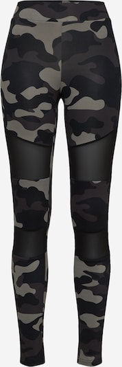 Urban Classics Curvy Leggings en gris / gris foncé / noir, Vue avec produit