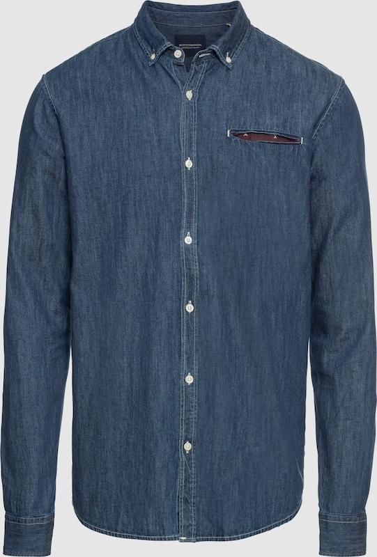 SCOTCH & SODA Jeanshemd 'REGULAR FIT 1 pocket clean denim shirt with pochet' in blau  Neue Kleidung in dieser Saison