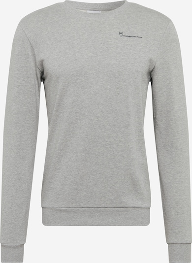 KnowledgeCotton Apparel Sweatshirt 'ELM' i lysegrå / sort, Produktvisning