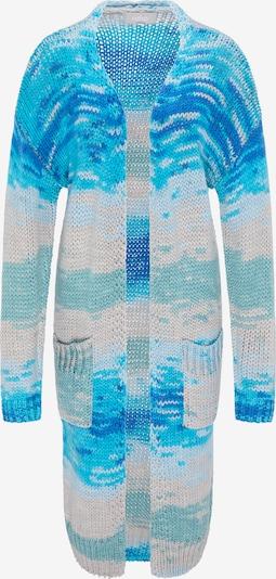 Usha Gebreide mantel in de kleur Beige / Blauw / Aqua, Productweergave