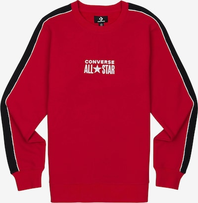 CONVERSE Sweater ' All Star Track Crew ' in rot / schwarz / weiß, Produktansicht