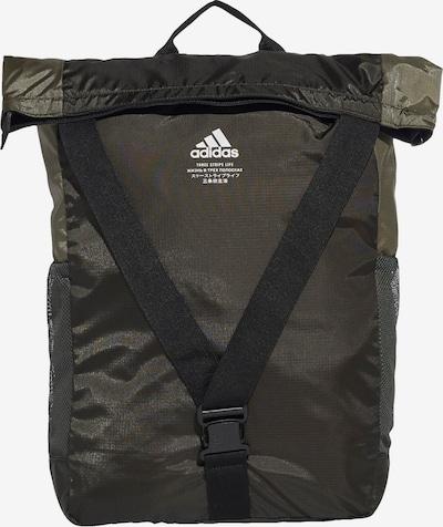 ADIDAS PERFORMANCE Sportrucksack in dunkelgrau / oliv / schwarz / weiß, Produktansicht