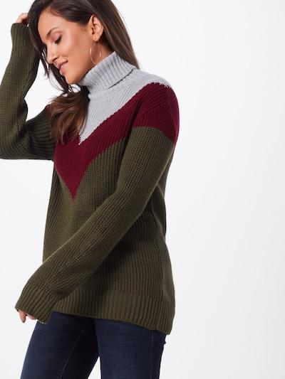 LTB Pullover 'ZODEXO' in grau / oliv, Modelansicht