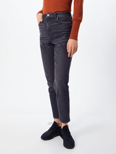 PIECES Jeans 'Leah' in black denim: Frontalansicht