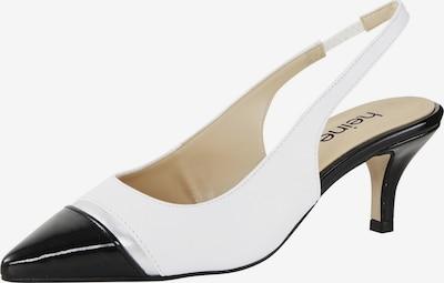 heine Slingpumps in schwarz / weiß, Produktansicht