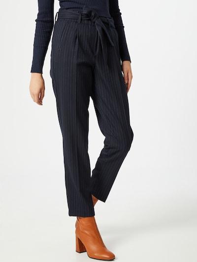 BRAX Pantalon à pince 'Milla' en bleu marine / blanc: Vue de face