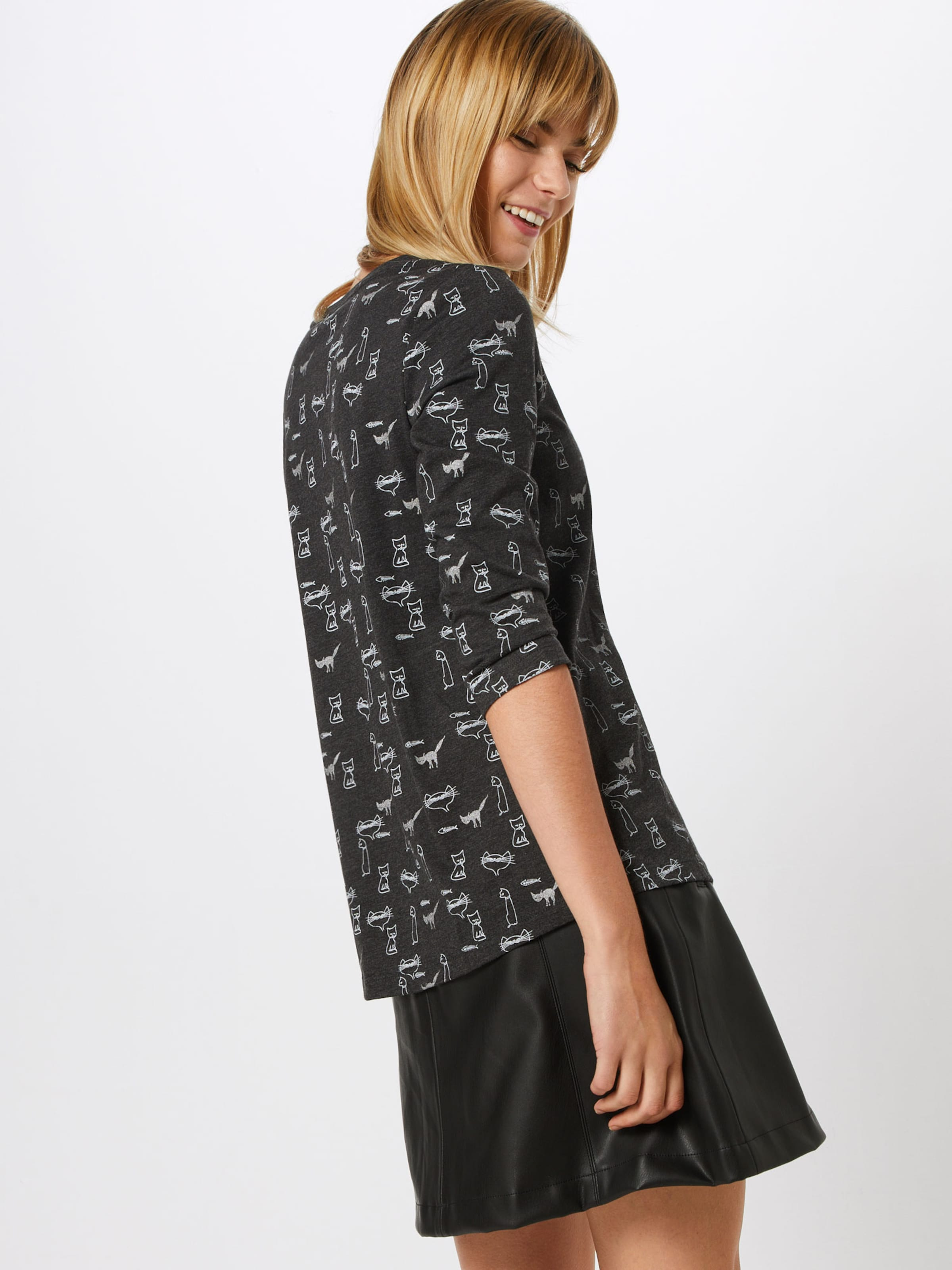 In Edc Esprit Shirt DunkelgrauWeiß By wN8PkXn0O