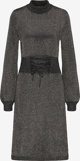 faina Strickkleid in schwarz / schwarzmeliert / silber, Produktansicht