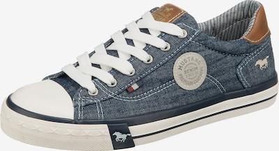 MUSTANG Sneaker in blau / karamell / weiß, Produktansicht