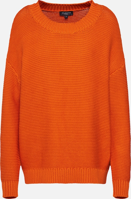 SELECTED FEMME Pullover in orange, Produktansicht