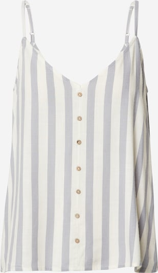 ONLY Top 'Astrid' in silber / offwhite, Produktansicht