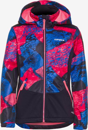 ICEPEAK Softshelljacke 'Ladora Jr' in blau / rot / schwarz, Produktansicht