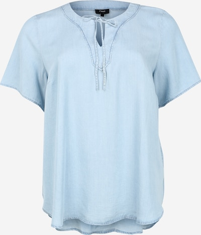 Zizzi Shirt in de kleur Blauw denim / Lichtblauw, Productweergave