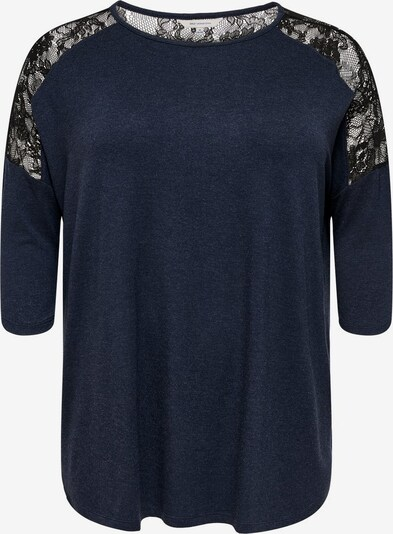 ONLY Carmakoma Shirt in de kleur Navy: Vooraanzicht