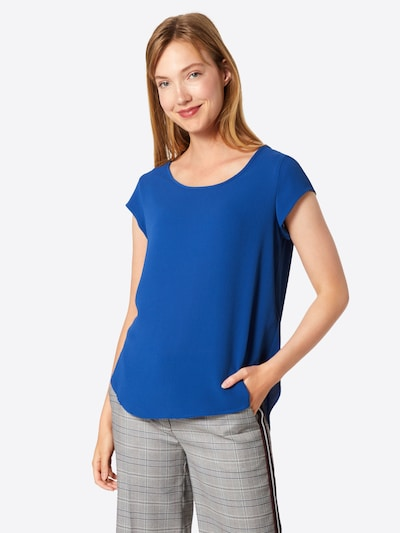 ONLY Blouse 'VIC' in de kleur Blauw, Modelweergave