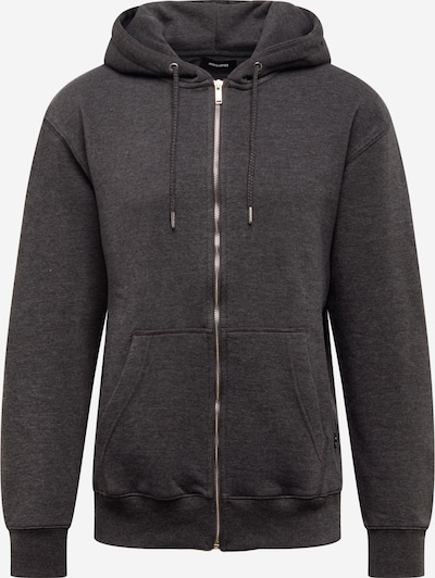 JACK & JONES Sweatjacke in dunkelgrau, Produktansicht