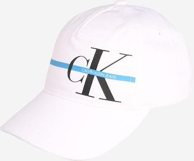 Calvin Klein Jeans Bonnet 'MONOGRAM' en blanc, Vue avec produit
