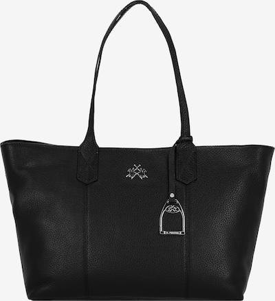 La Martina Amelia Shopper Tasche Leder 34 cm in schwarz, Produktansicht