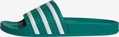 ADIDAS ORIGINALS Plätu 'Adilette' smaragdroheline / valge, Tootevaade
