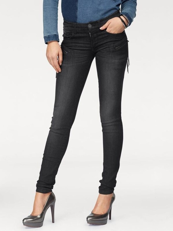 ARIZONA Skinny-fit-Jeans mit Zippertaschen