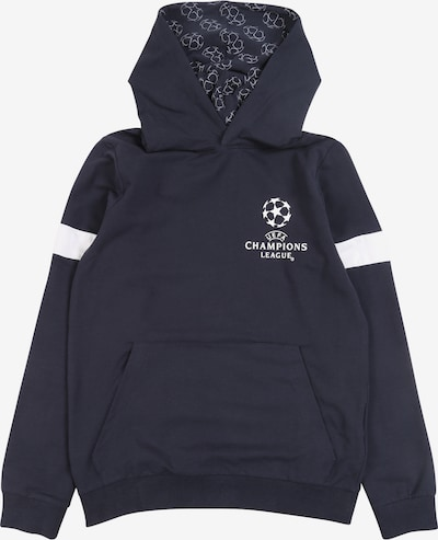 NAME IT Sweatshirt 'UEFA THEODORE' in de kleur Saffier / Wit, Productweergave