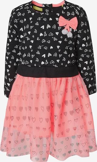 LEMON BERET Kleid in koralle / schwarz / weiß, Produktansicht