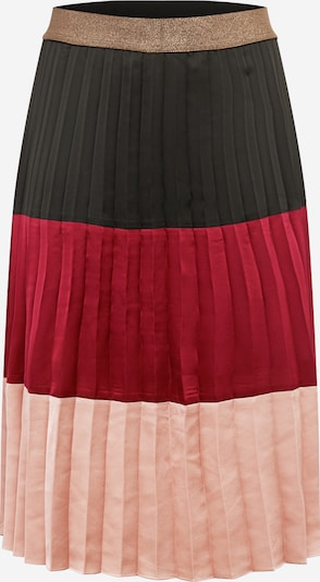 Guido Maria Kretschmer Curvy Collection Rok 'Dalia' in de kleur Donkerbruin / Rosa / Rood, Productweergave