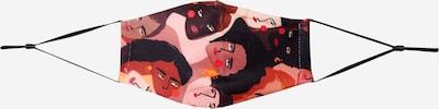 Hailys Stoffen mondkapje in de kleur Gemengde kleuren / Wit: Vooraanzicht