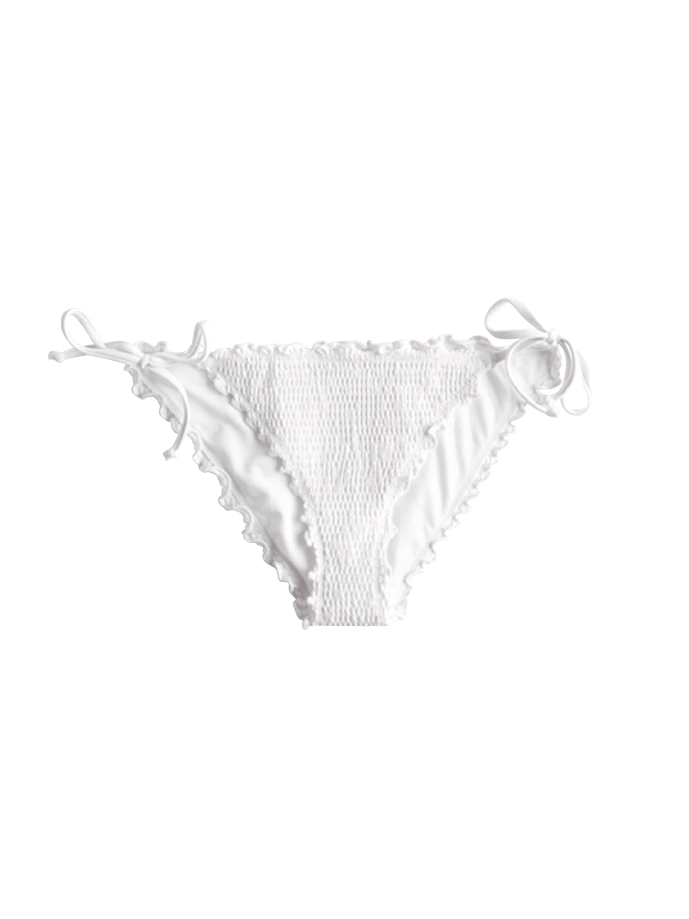 Cheeky Bikinihose Hollister In Ruffle Weiß Side 'smock Tie 5cc' j354RALq