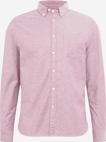 KnowledgeCotton Apparel Hemd 'Oxford' in Pink