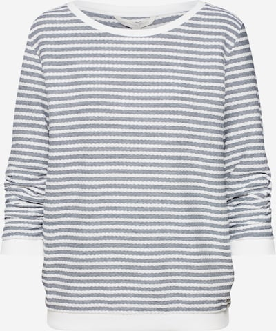 TOM TAILOR DENIM Sweatshirt in graphit / weiß, Produktansicht