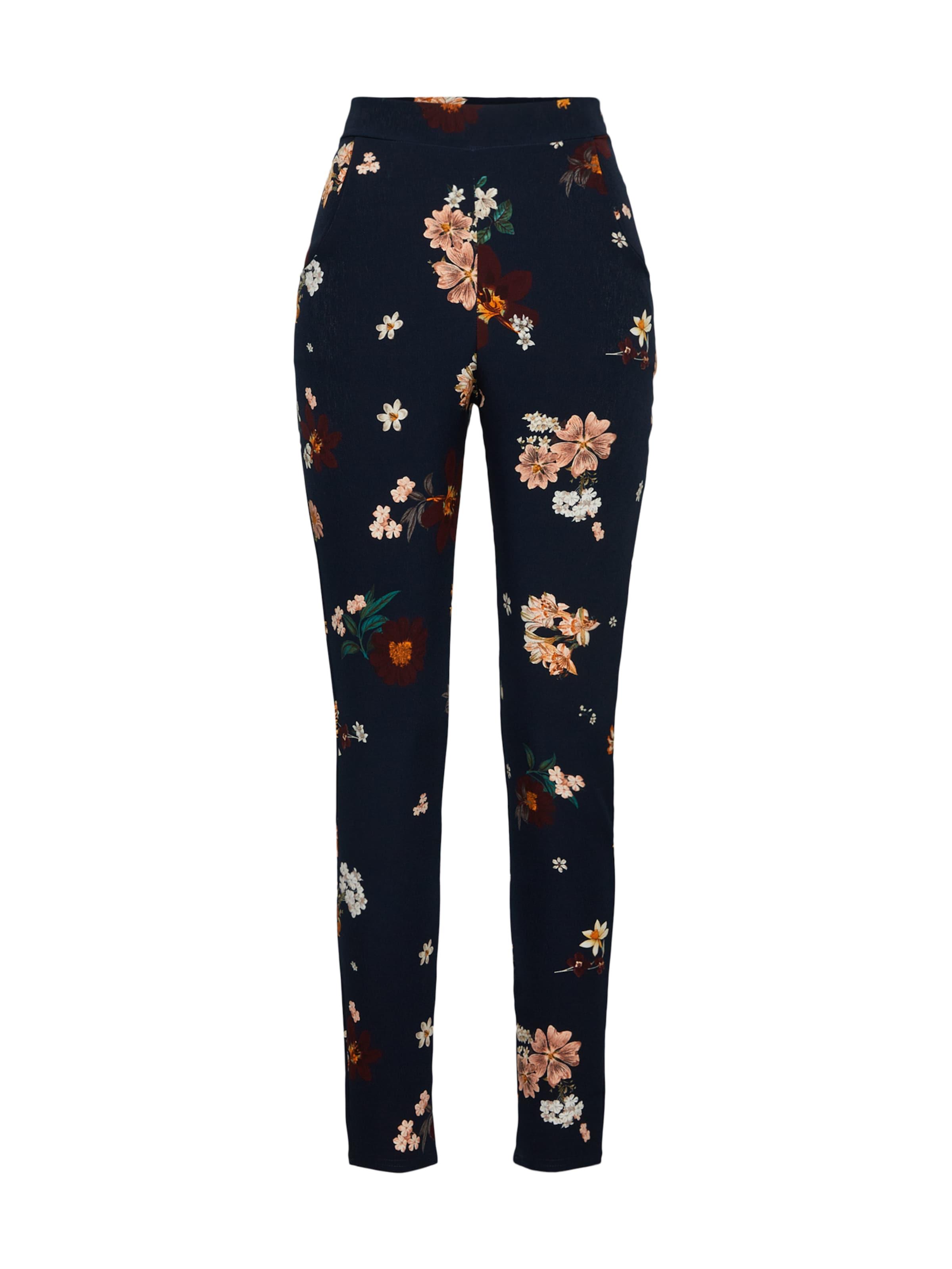 Hose Trousers' In NachtblauMischfarben Boohoo 'floral Cigarette Nn80wm