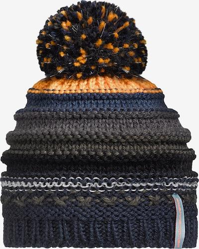 STÖHR Mütze 'Jahu' in dunkelblau / grau / orange / weiß, Produktansicht