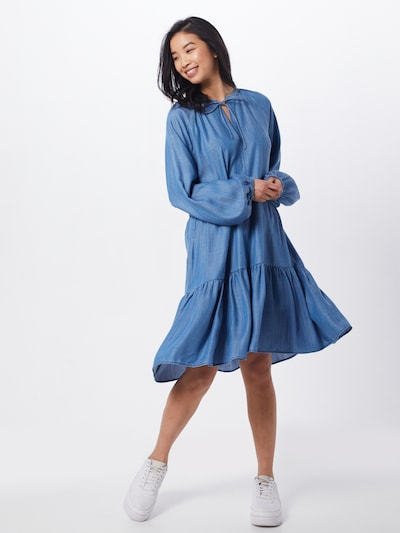 SECOND FEMALE Kleid in blau, Modelansicht