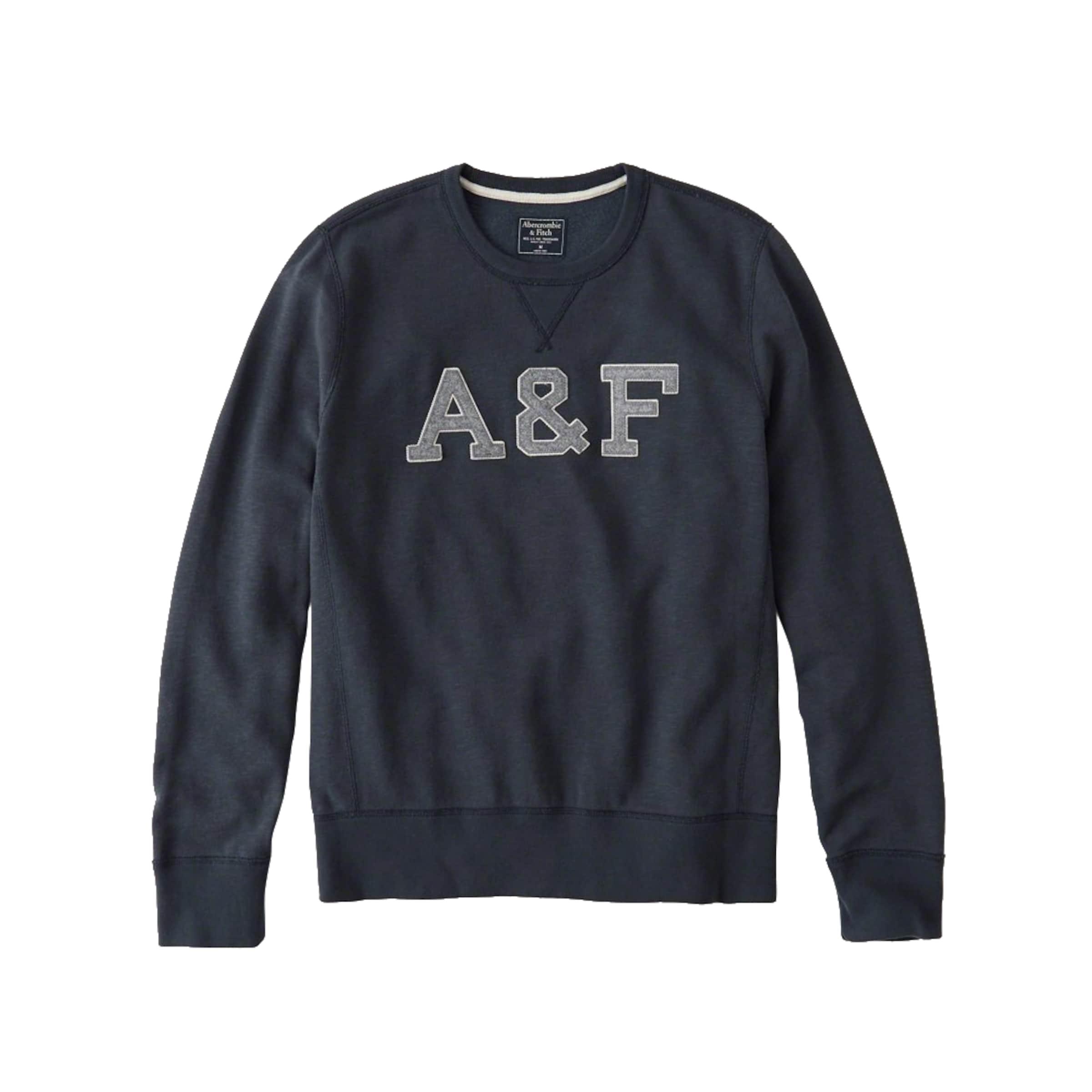 Abercrombie & Fitch Sweatshirt 'CORE LOGO CREW' in Navy ...