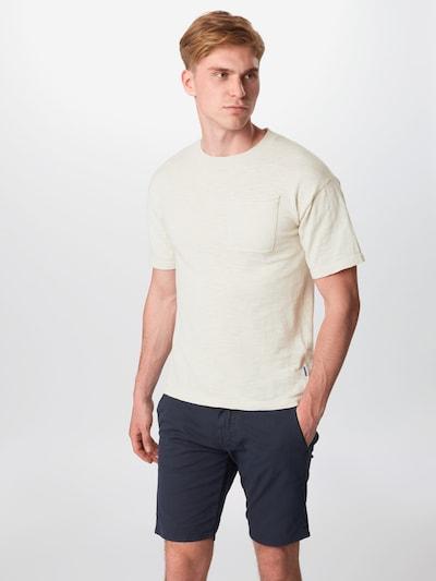 JACK & JONES Tričko - šedobiela: Pohľad spredu