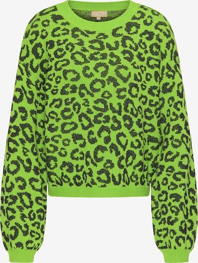 MYMO Pullover in kiwi / schwarz, Produktansicht