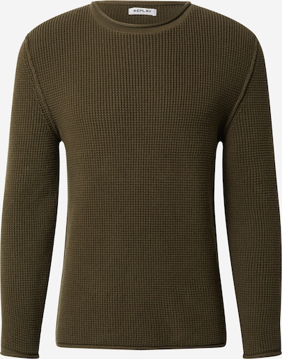 REPLAY Pullover in oliv, Produktansicht