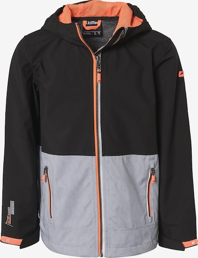 KILLTEC Jacke in schwarz / weiß, Produktansicht